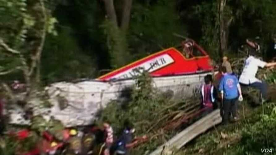 Tour Bus Crash Kills at Least 21 in Northern Thailand