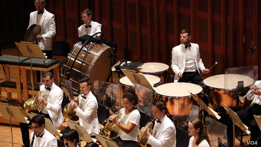 Miles Salerni on the timpani, in performance with the Tanglewood Music Center Orchestra.