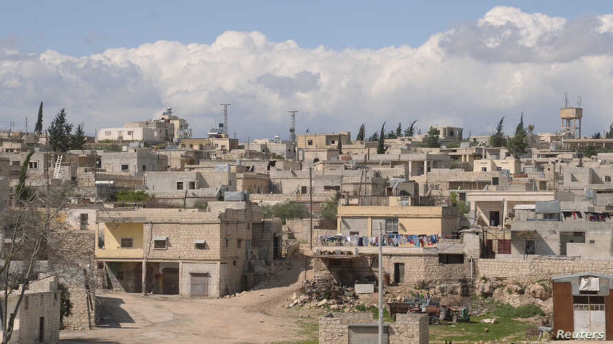 A general view shows Khan al-Assal area near the northern city of Aleppo, near the site where forces loyal to Syria's President Bashar al-Assad say a chemical weapons attack occurred, March 23, 2013.