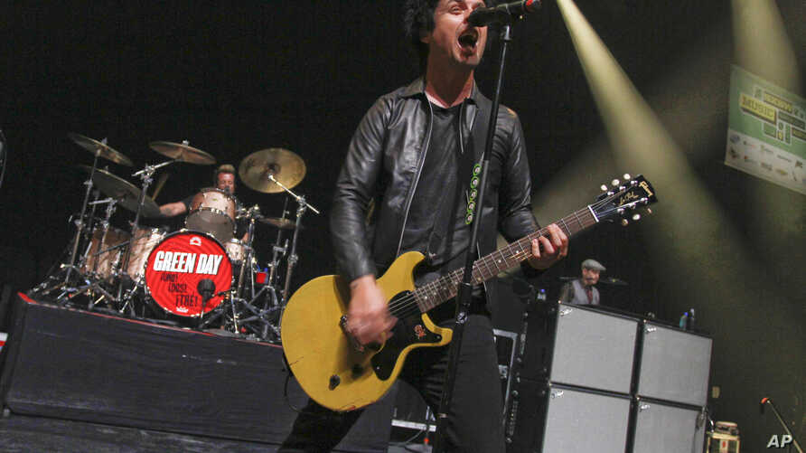 Billie Joe Armstrong of Green Day performs at the SXSW Music Festival, March 15, 2013.