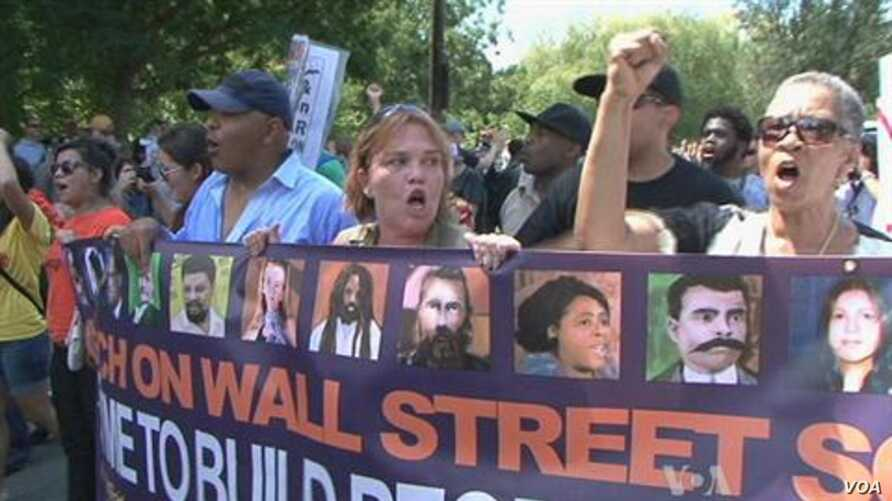 DNC Protests Target Charlotte-based companies in 'Wall Street South'