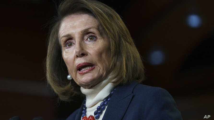 House Speaker Nancy Pelosi of Calif., speaks during a news conference on Capitol Hill in Washington, Jan. 17, 2019.
