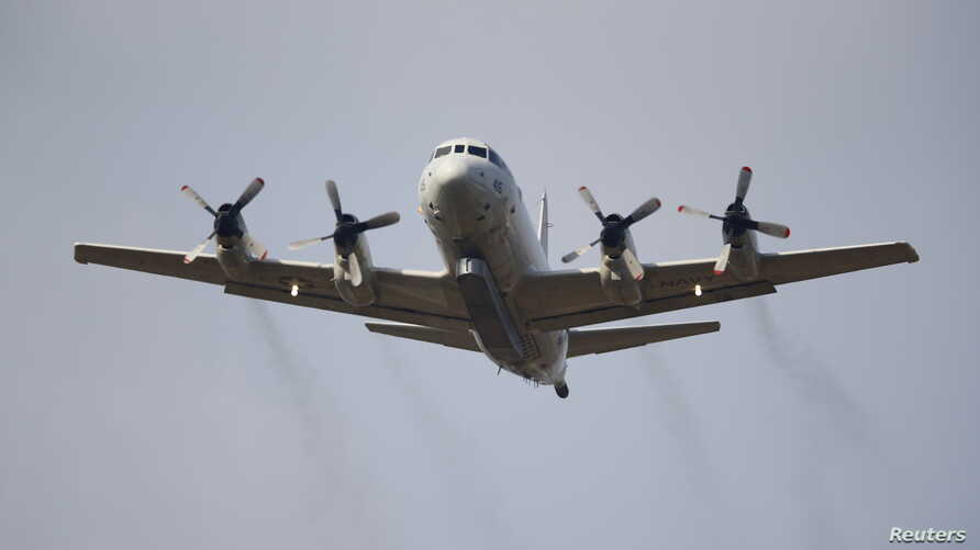 A U.S. Navy P-3 Orion Maritime patrol aircraft takes off from Incirlik airbase in the southern city of Adana, Turkey, July 26, 2015.