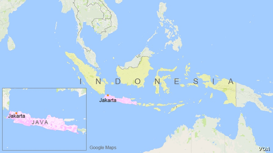 The island of Java, in Indonesia