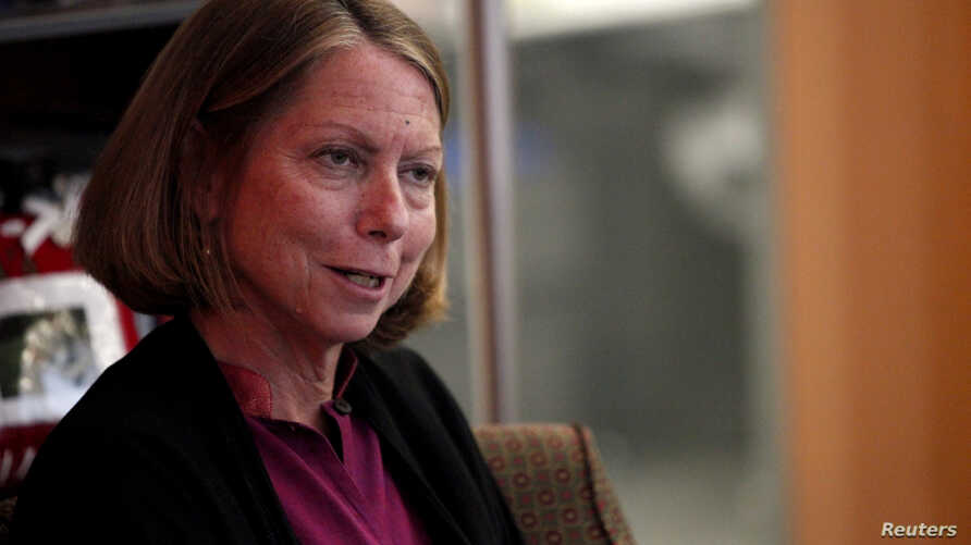 FILE - Jill Abramson speaks during an interview in New York.
