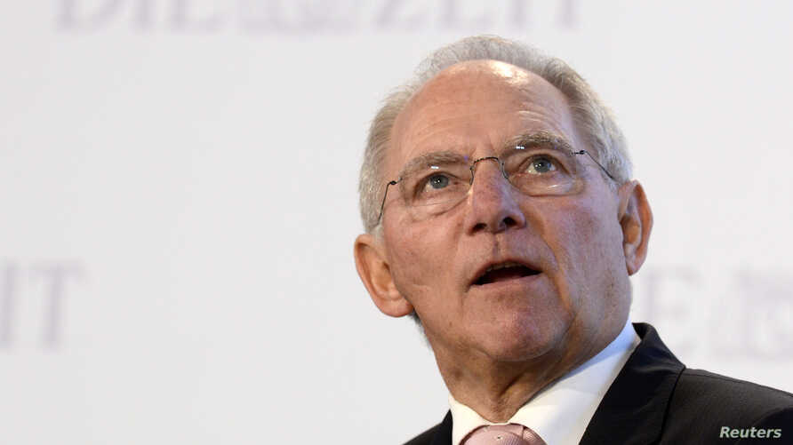 German Finance Minister Wolfgang Schaeuble delivers his speech during the 'German Economic Forum,' organized by German weekly newspaper 'Die Zeit,' in the St.Michaelis church in Hamburg, Germany, November 8, 2012.