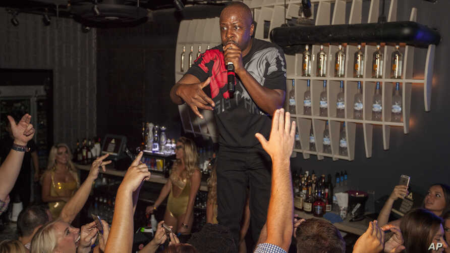 FILE - Wyclef Jean performs during the Lollapalooza After-Show at The Underground in Chicago.
