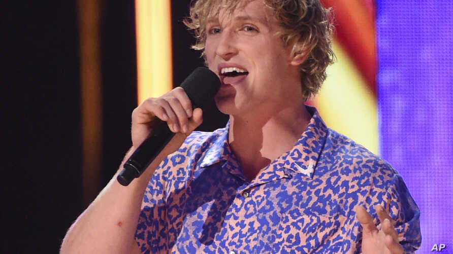 FILE - Logan Paul speaks at the Teen Choice Awards at the Galen Center in Los Angeles, Aug. 13, 2017.