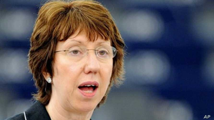EU Foreign Policy Chief Catherine Ashton delivers a speech at the European Parliament  16 June 2010