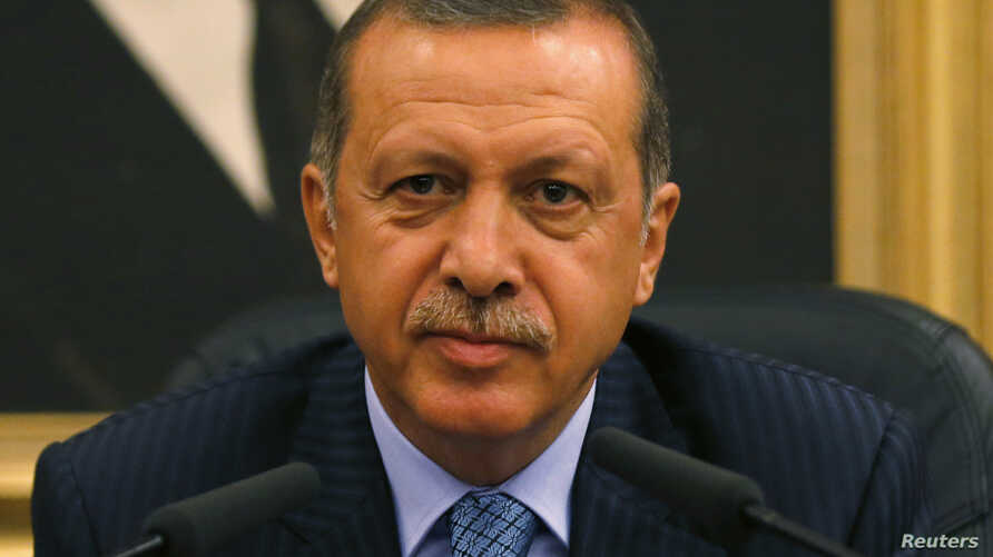 Turkey's Prime Minister Tayyip Erdogan Erdogan calls for the U.N. Security Council to convene quickly and act after what he described as a massacre in Egypt, during a news conference in Ankara, Turkey, Aug. 15, 2013.
