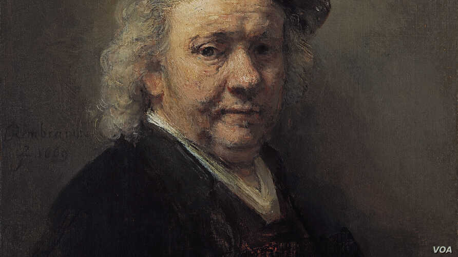 Rembrandt Self-Portrait, 1669. (Part of the Mauritshuis collection, The Hague)