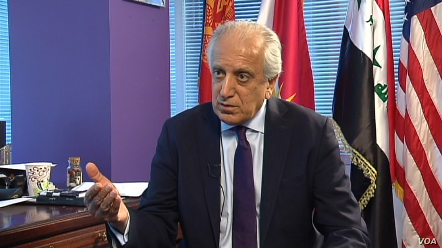 Zalmay Khalilzad, former U.S. ambassador to Afghanistan, Iraq and the U.N., speaks to VOA's Afghan Service in Washington on March 30, 2017.