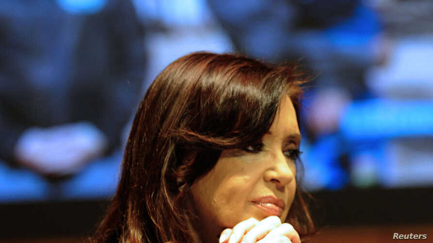 Argentine President Cristina Fernandez de Kirchner attends a rally in the San Juan province in this photo taken and provided on Oct. 3, 2013 by the Argentine Presidency.