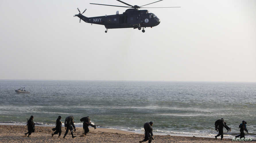 Pakistan Navy soldiers conduct a counter terrorism exercise naval exercise in Karachi March 5, 2013. Pakistan has become increasingly reliant on China as a weapons supplier in recent years.