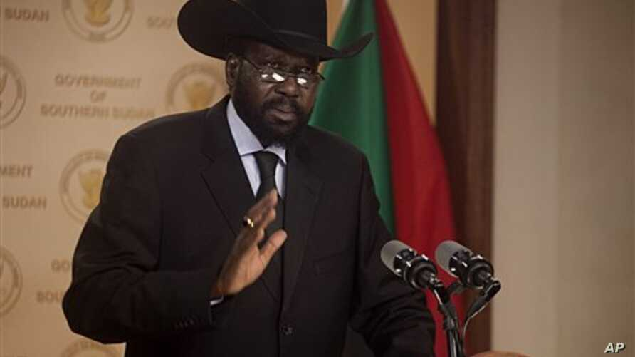 Salva Kiir Mayardit, the president of the government of southern Sudan, (file photo)
