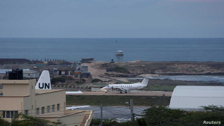 FILE - A general view of Aden Adde airport in Mogadishu, Somalia, Oct. 24, 2017.