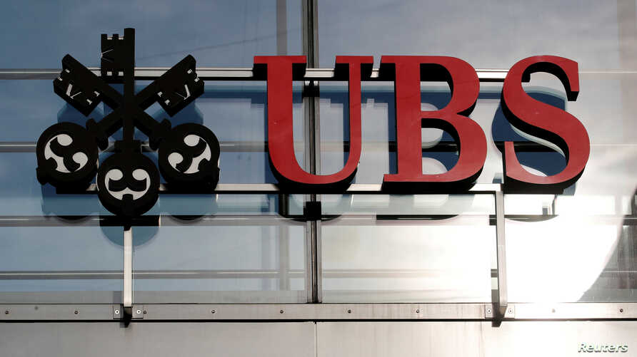 FILE - The logo of Swiss bank UBS is seen in Zurich, Oct. 25, 2018.