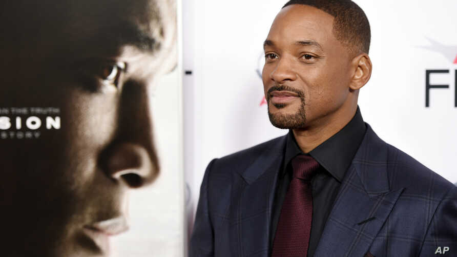 """Will Smith, star of """"Concussion,"""" poses at the world premiere gala screening of the film during the 2015 AFI Fest at the TCL Chinese Theatre on Nov. 10, 2015, in Los Angeles."""