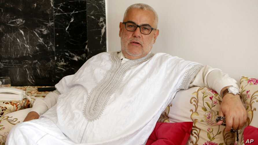 Abdelilah Benkirane, Moroccan prime minister and leader of the Islamist Justice and Development Party, known as PJD,  speaks about the upcoming nationwide legislative election, October 3, 2016. Voting booths open on Oct. 7 for the North African kingd