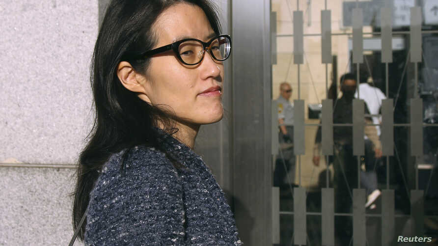 Ellen Pao, who is suing Silicon Valley venture capital firm Kleiner Perkins Caufield & Byers for gender discrimination and retaliation, arrives at San Francisco Superior Court in San Francisco, California, March 3, 2015.