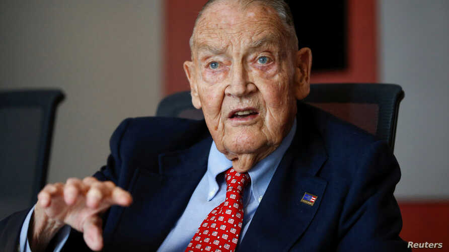 FILE - Jack Bogle, founder and retired CEO of The Vanguard Group, speaks during the Global Wealth Management Summit in New York, June 17, 2014. Bogle died Wednesday at age 89.