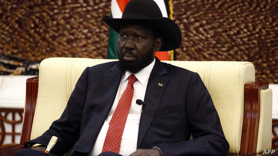 South Sudanese President Salva Kiir (pictured) meets his Sudanese counterpart, Omar al-Bashir, in Khartoum on Sept. 21, 2018.