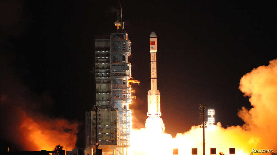 China's second experimental space laboratory lifts off from the launch pad in Jiuquan, Gansu province, China, September 15, 2016.