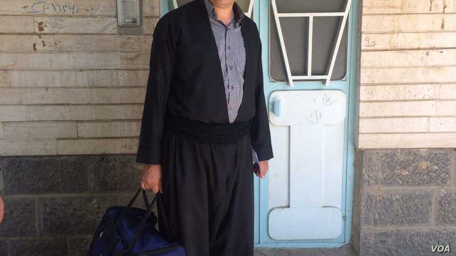 Iranian Kurdish teacher Bakhtiar Arefi, from the northwestern city of Sardasht, appears in this undated photo on the website of his Sunni Islamist political group, Call to Islam and Reform.
