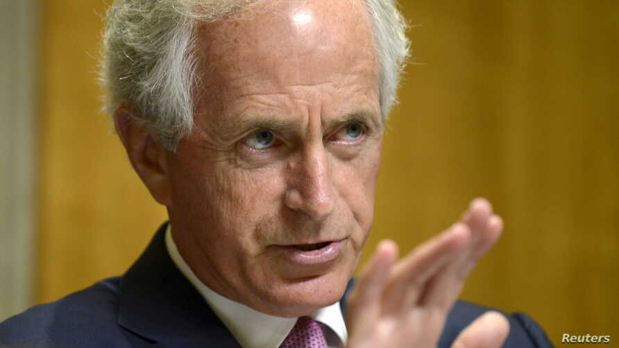 FILE - Senator Bob Corker (R-TN), chairman of the Senate Foreign Relations Committee.