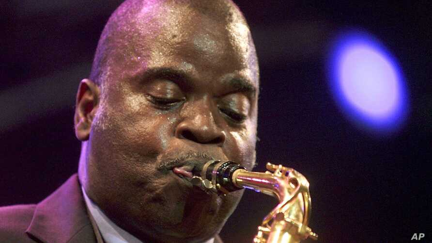 Tenor saxophonist Maceo Parker performs at the Paleo Festival in Nyon, Switzerland, July 25, 2001.