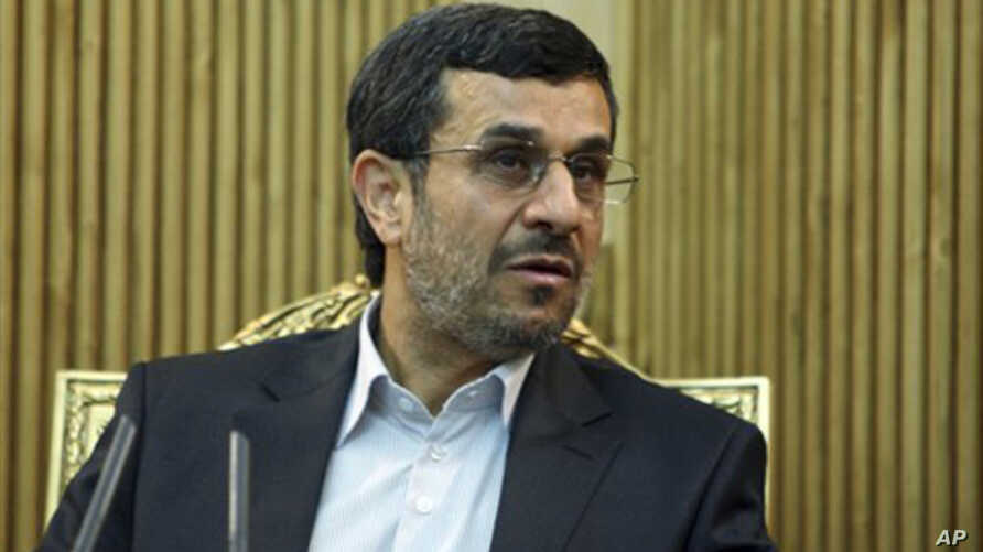 Iranian President Mahmood Ahmadinejad (file photo)