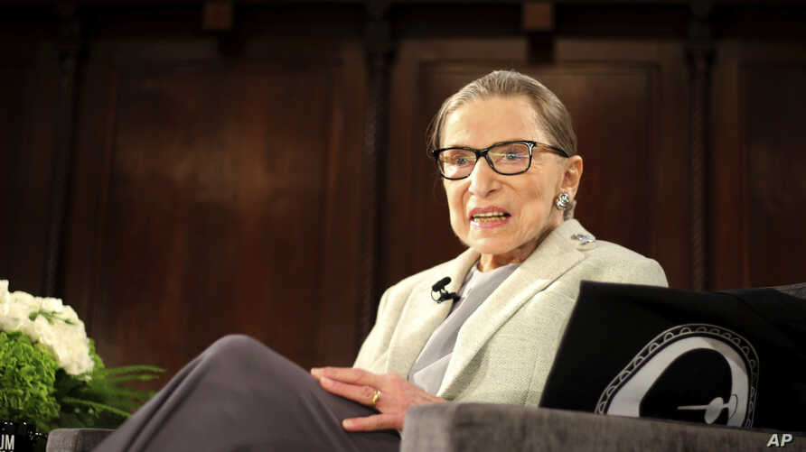 U.S. Supreme Court Justice Ruth Bader Ginsburg sits onstage as the third speaker of the David Berg Distinguished Speakers Series, during an event organized by the Museum of the City of New York, Dec. 15, 2018.