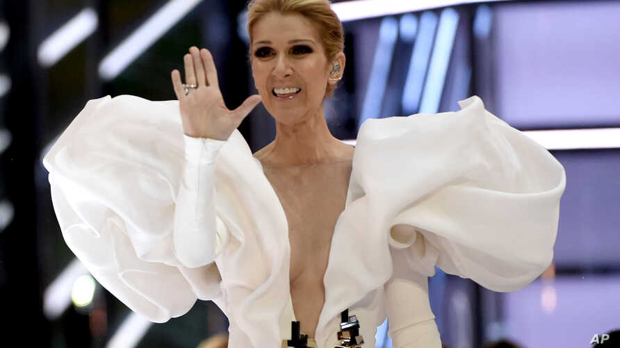 "FILE - Celine Dion performs ""My Heart will Go On"" at the Billboard Music Awards at the T-Mobile Arena on May 21, 2017, in Las Vegas."