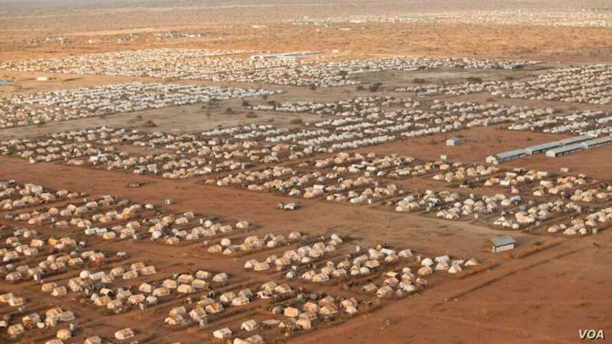 FILE - An image of the world's largest refugee camp, Dadaab, in northeastern Kenya. Photo taken in 2012.