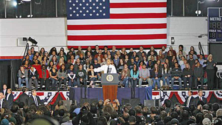 President Barack Obama outlines a plan to allow millions of student loan recipients to lower their payments and consolidate their loans to students and faculty at Auraria Events Center in Denver, October 26, 2011.