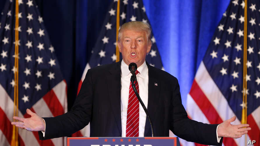 Republican presidential candidate Donald Trump speaks in Youngstown, Ohio, Aug. 15, 2016.