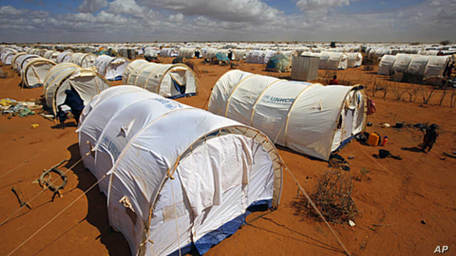 In this photo taken Friday, Aug. 5, 2011 tents are seen at the UNHCR's Ifo Extension camp outside Dadaab, eastern Kenya, 100 kilometers (62 miles) from the Somali border