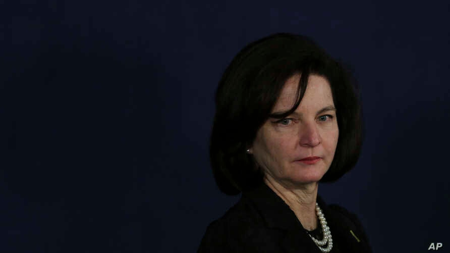 Newly appointed Attorney General Raquel Dodge attends her inauguration ceremony at the Attorney General office in Brasilia, Brazil, Sept. 18, 2017.
