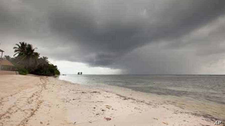 The marine and coastal systems of the Seychelles are threatened by the effects of climate change, including increasing extremes of weather , rising sea levels and rising temperatures.