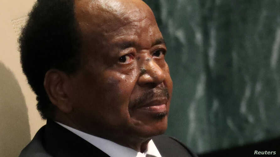 FILE - President Paul Biya of Cameroon waits to address the 71st United Nations General Assembly in New York, Sept.  22, 2016.