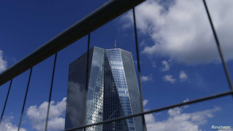 The headquarters of the European Central Bank (ECB) is pictured in Frankfurt, Germany, June 28, 2015.