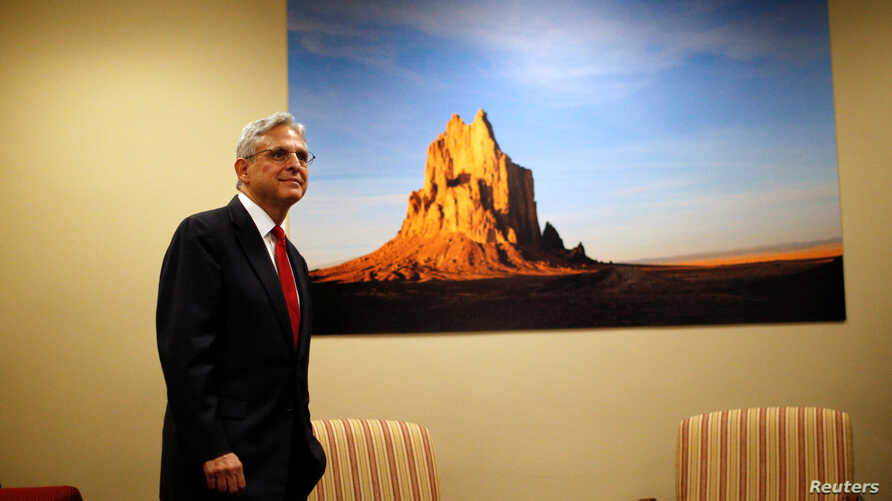 Supreme Court nominee Merrick Garland, chief judge of the D.C. Circuit Court waits for a meeting with Senator Tom Udall (D-NM) at Hart Senate Office Building in Capitol Hill in Washington, May 18, 2016.