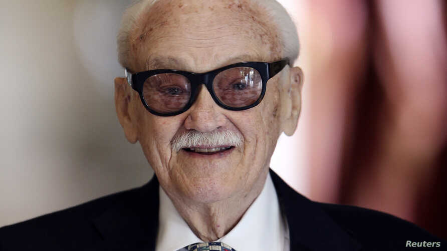 FILE - Belgian musician Toots Thielemans poses for a picture at Laeken Royal Castle in Brussels.