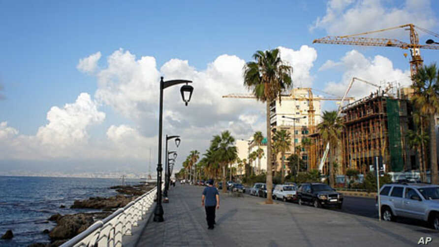 Beirut's unlikely economic boom can be seen in construction along the Corniche, 01 Sep 2010