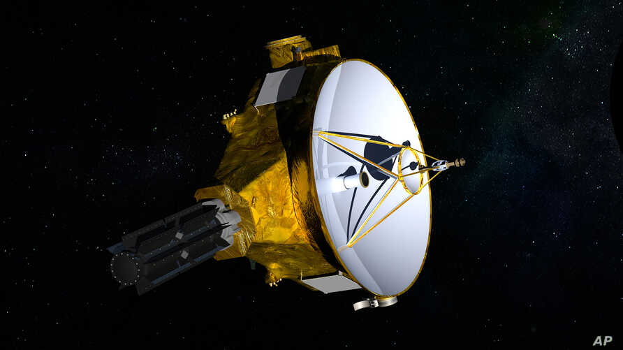 FILE - This illustration provided by NASA shows the New Horizons spacecraft. NASA launched the probe in 2006; it's about the size of a baby grand piano.