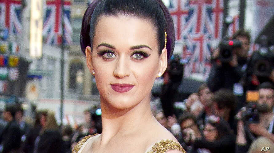 """U.S. singer Katy Perry at the European Premiere of her film """"Part of Me"""" in London, July 3, 2012."""