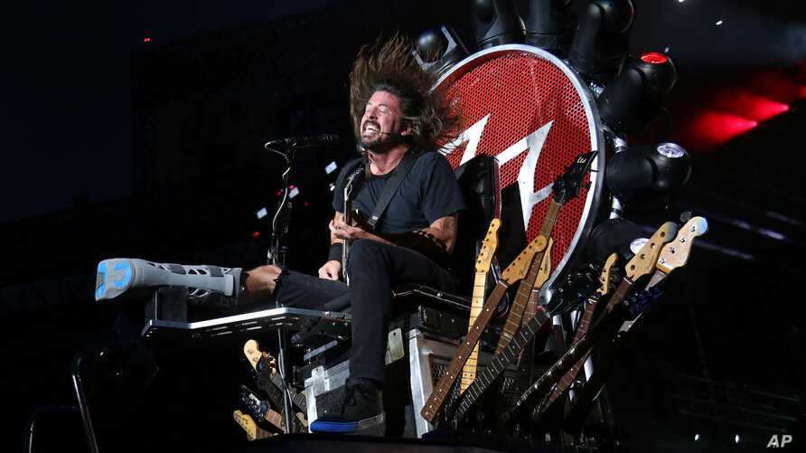 FILE - The rock band Foo Fighters — member Dave Grohl is p