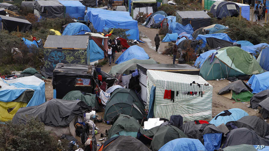 This camp in the Calais area of northern France holds about 6,000 migrants who are fleeing war, political turmoil and poverty outside Europe and are hoping to find better lives in Britain..