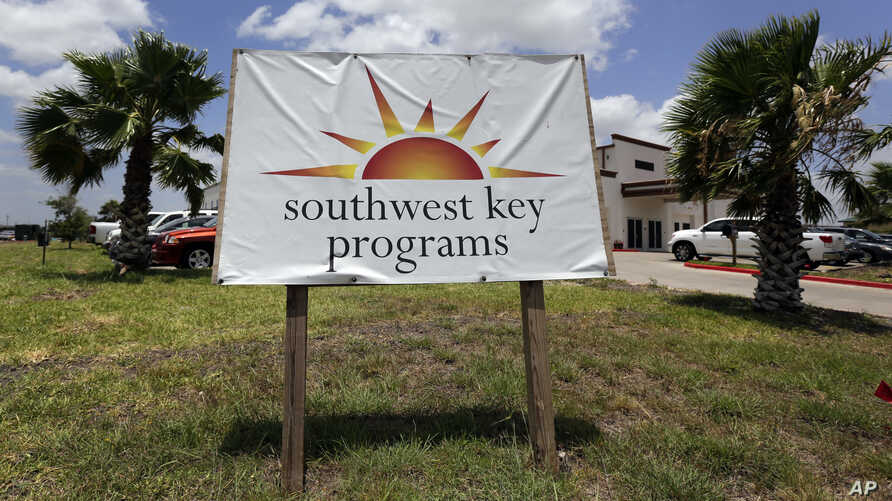 FILE- This June 20, 2014 file photo shows the Southwest Key-Nueva Esperanza, in Brownsville, Texas, a facility that shelters unaccompanied immigrant children.