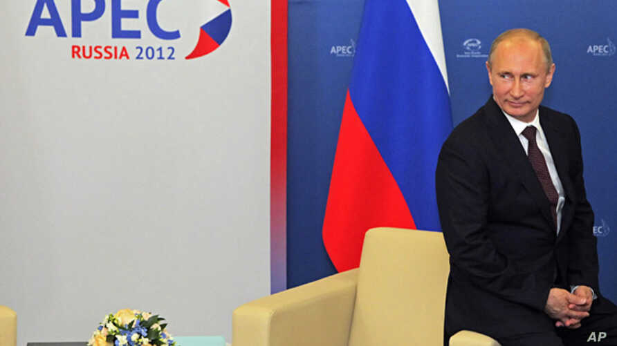 Russian President Vladimir Putin at the Asia-Pacific Economic Cooperation (APEC) summit in Vladivostok, Sept. 7, 2012.